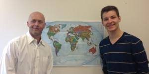 David Belcher and his faculty sponsor Ethan Schiener of U.C. Davis