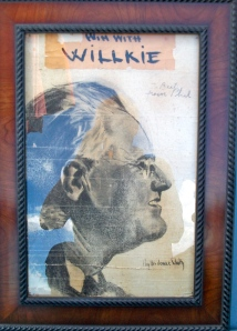 Phyllis' 1940 drawing. A gift to Bert during their courtship. She favored Willkie.